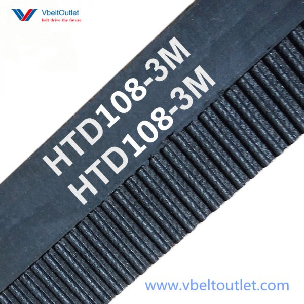 HTD 108-3M Timing Belt Replacement 36 Teeth