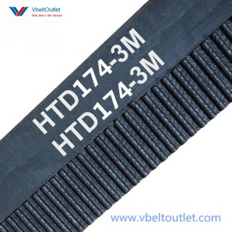 HTD 174-3M Timing Belt Replacement 58 Teeth