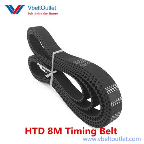 65mm Width 1610-14M-65 HTB Timing Belt1610mm Length 115 Teeth 14mm Pitch
