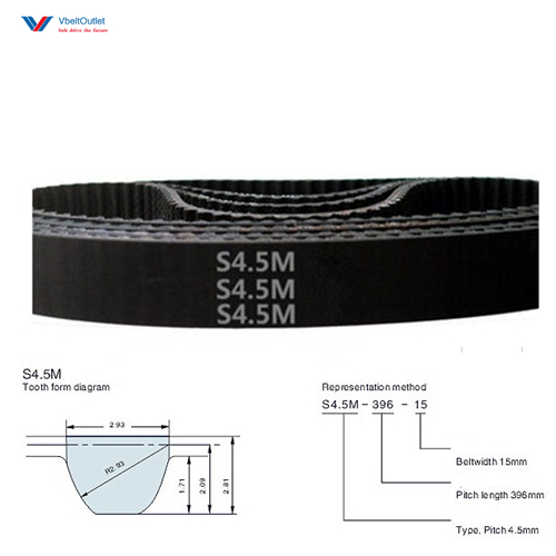 STD S4.5M-333 74 Teeth Timing Belt STD S4.5M-369 STD S4.5M-351 STD S4.5M-396 STD S4.5M-500 STD S4.5M-504