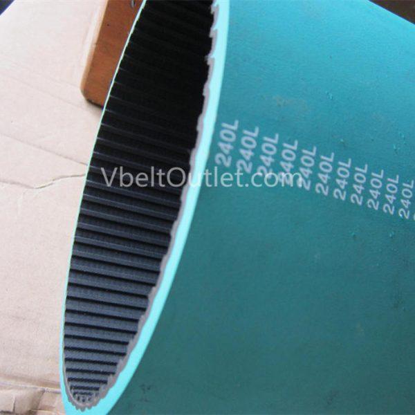 240L Timing Belt Coated redgreen rubber