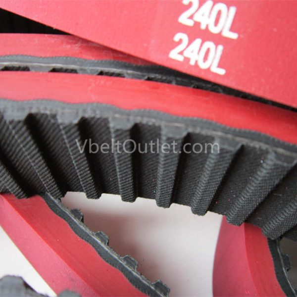 240L Timing Belt Coated red green rubber